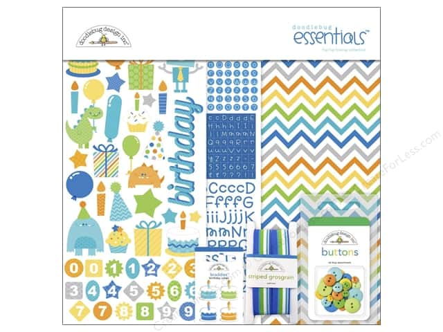 Doodlebug Kit Essentials Hip Hip Hooray