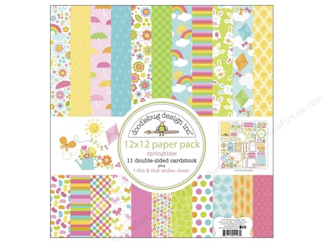Doodlebug Paper 12 x 12 in. Springtime Assorted Pack