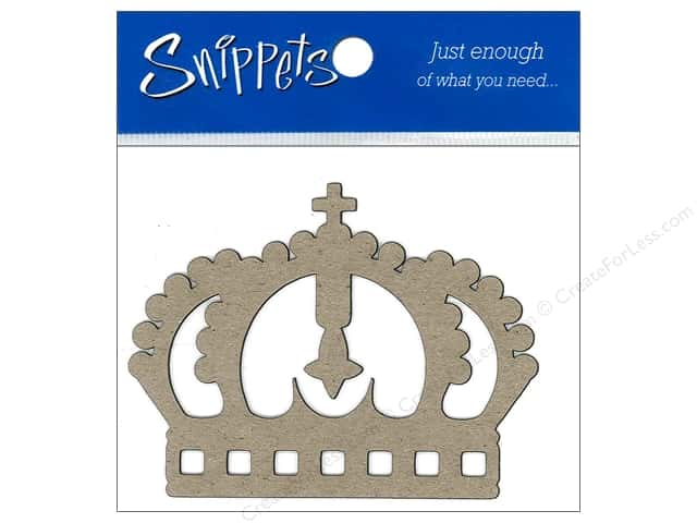 Paper Accents Chipboard Shape Crown 3 pc. Kraft (3 pieces)