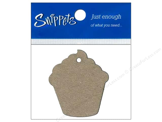 Paper Accents Chipboard Shape Cupcake Tag 4 pc. Kraft
