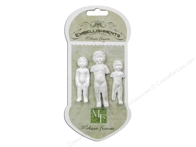 Melissa Frances Embellishments Resin Baby Doll Set 3pc