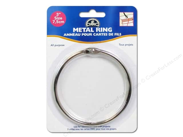 Dmc metal craft rings 3 in 1 pc createforless for 3 inch rings for crafts