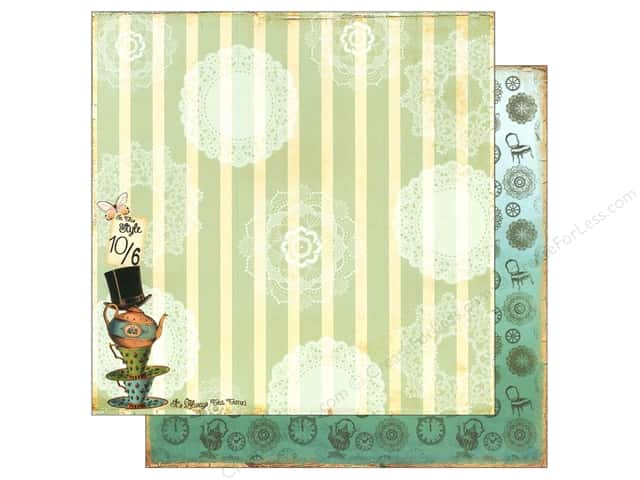 "Marion Smith Paper 12""x 12"" Mad Tea Party Tea Party (20 pieces)"