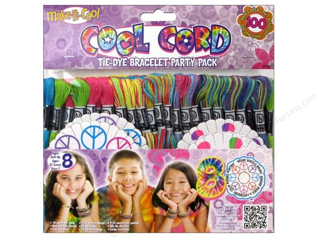 Janlynn Cool Cord Party Pack 105 pc. Tie Dye Bracelet