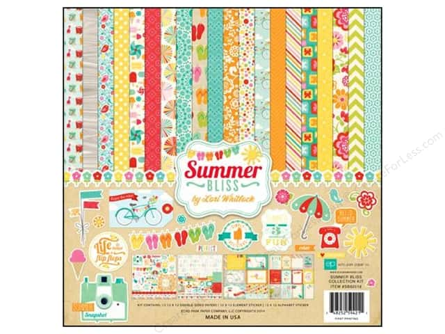"Echo Park Collection Kit Summer Bliss 12""x 12"""
