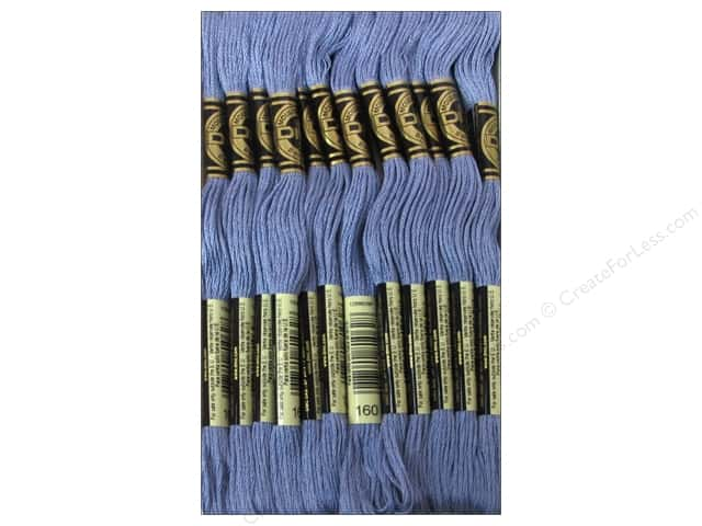 DMC Six-Strand Embroidery Floss #160 Medium Grey Blue (12 skeins)