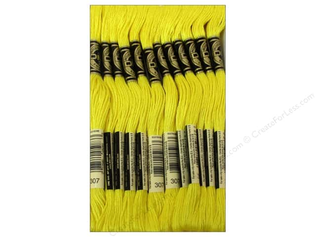 DMC Six-Strand Embroidery Floss #307 Lemon (12 skeins)