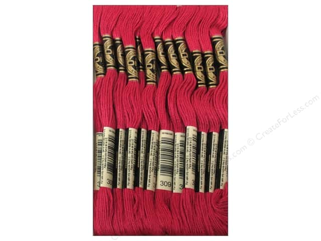 DMC Six-Strand Embroidery Floss #309 Dark Rose (12 skeins)