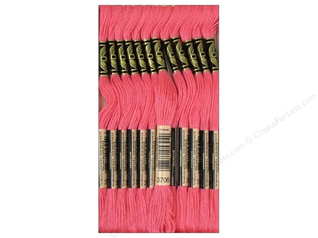 DMC Six-Strand Embroidery Floss #3706 Medium Melon (12 skeins)