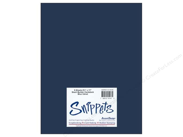 Cardstock 8 1/2 x 11 in. #10130 Stash Builder Blue Velvet by Paper Accents 5 pc. (3 pieces)