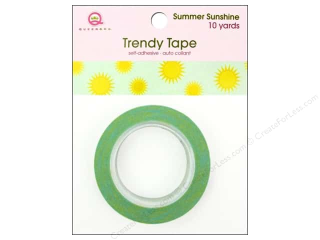 Queen&Co Trendy Tape 10yd Summer Sunshine