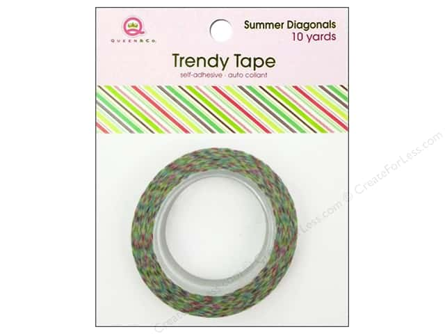 Queen&Co Trendy Tape 10yd Summer Diagonals