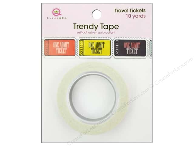 Queen&Co Trendy Tape 10yd Travel Tickets