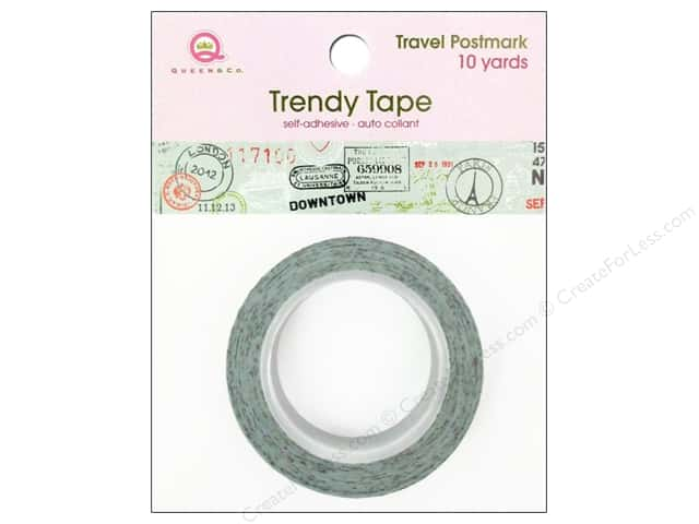 Queen&Co Trendy Tape 10yd Travel Postmark