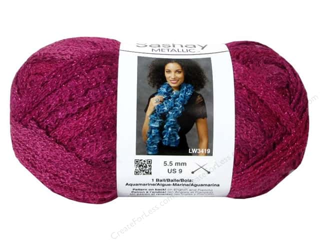 Red Heart Boutique Sashay Yarn #1700 Metallic Pink Topaz 30 yd.