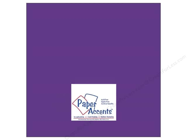 Cardstock 12 x 12 in. #8052 Muslin Concord Grape by Paper Accents (25 sheets)