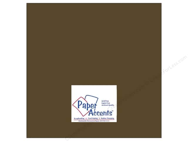 Cardstock 12 x 12 in. #8072 Muslin Bitter Chocolate by Paper Accents (25 sheets)