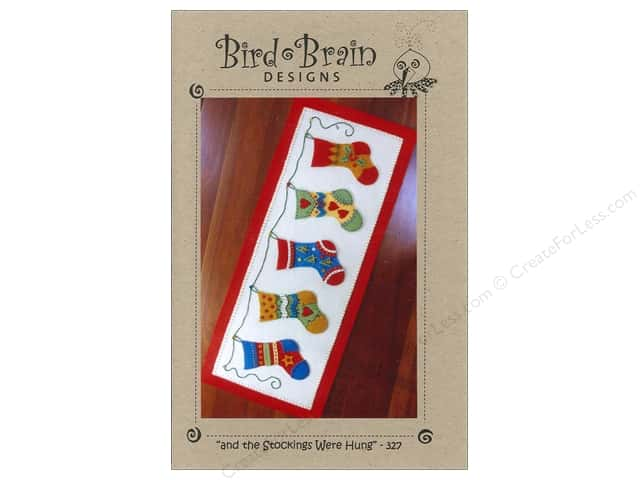 "Bird Brain Designs ""And The Stockings Were Hung.."" Table Runner Pattern"