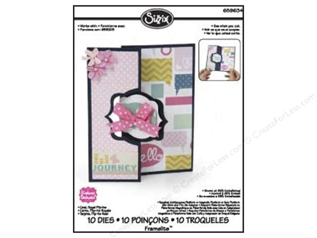 Sizzix Framelits Die Set 11PK Card Royal Flip Its by Stephanie Barnard