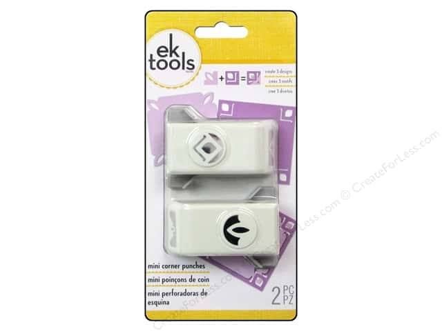 EK Paper Shapers Mini Corner Punch Grandeur 2pc