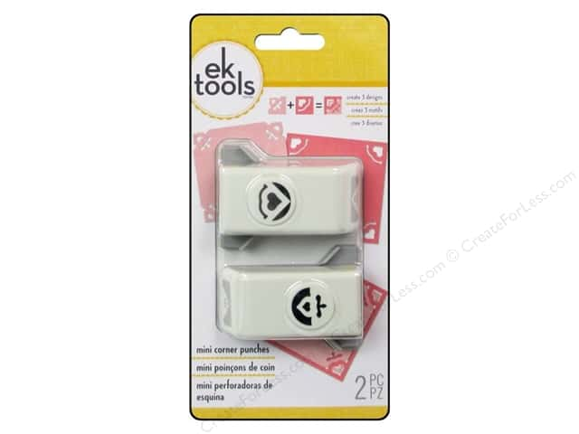 EK Paper Shapers Mini Corner Punch Heart 2pc