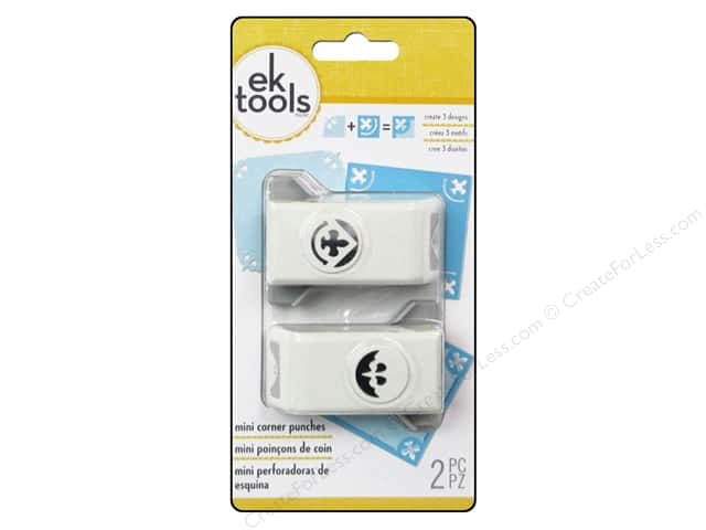 EK Paper Shapers Mini Corner Punch Fleur de Lis 2pc