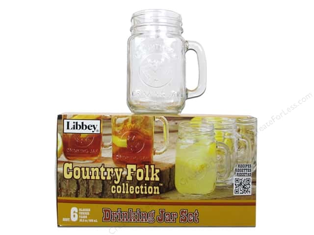 Crisa by Libbey Glass Country Folk Drinking Jar (6 pieces)