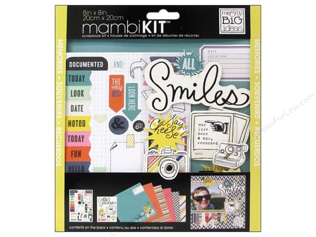 Me & My Big Ideas 8 x 8 in. Scrapbook Kit  All Smiles