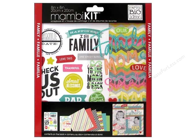 "Me&My Big Ideas Kit Scrapbook 8""x 8"" Our Family"