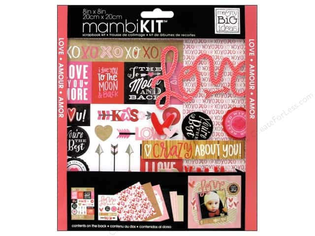 Me & My Big Ideas 8 x 8 in. Scrapbook Kit Crazy About You