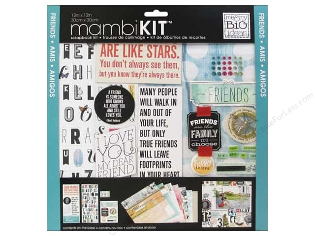 "Me&My Big Ideas Kit Scrapbook 12""x 12"" Mixed Friends"