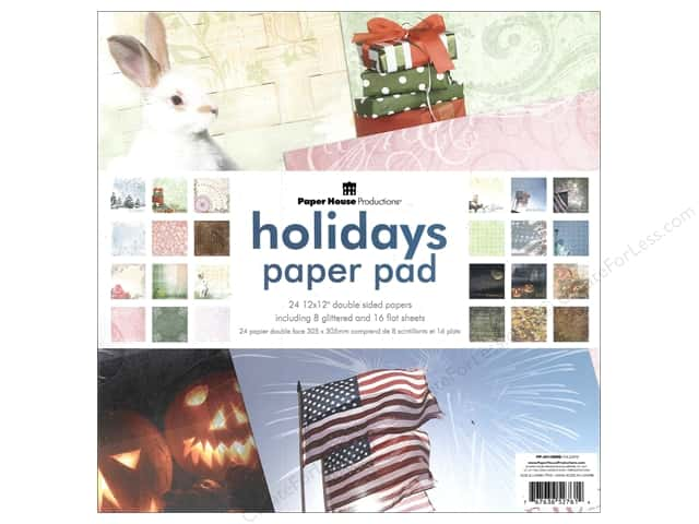 "Paper House Paper Pad 12"" Holiday"