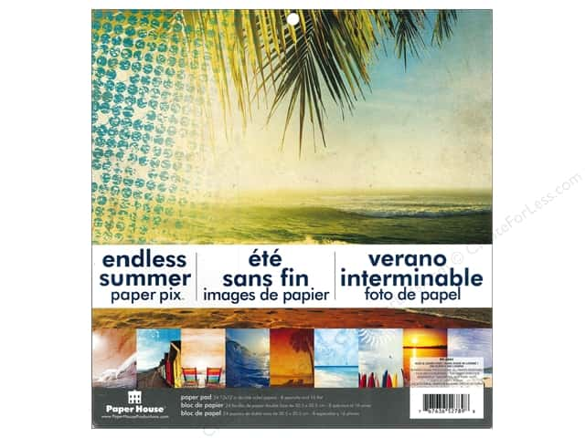 "Paper House Paper Pad 12"" Endless Summer"