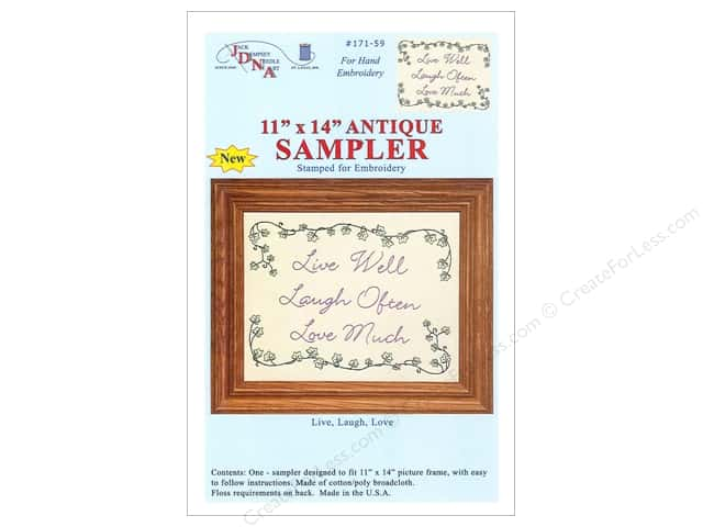 "Jack Dempsey Sampler 11""x 14"" Live Laugh Love Antique"