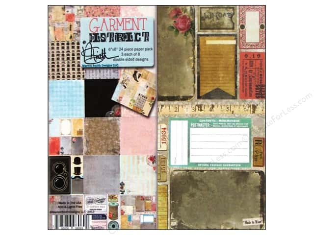 "Marion Smith Paper Pack Garment District 6""x 6"""
