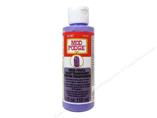 Plaid Mod Podge Sheer Color 4 oz. Purple
