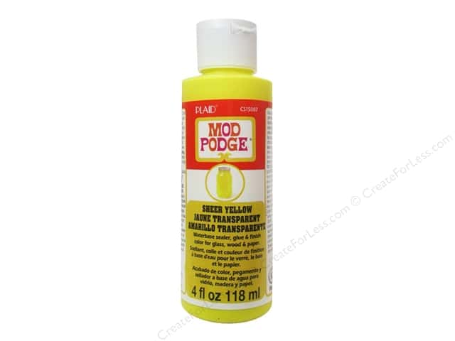 Plaid Mod Podge Sheer Color 4 oz. Yellow