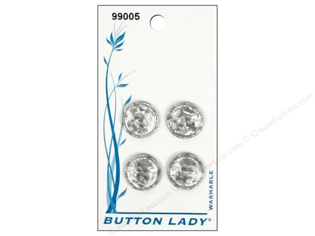 JHB Button Lady Buttons 1/2 in. Smoke Shell #99005 4 pc.