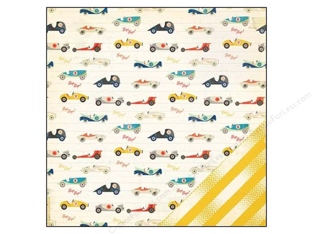 Crate Paper 12 x 12 in. Paper Boys Rule Beep Beep (25 pieces)