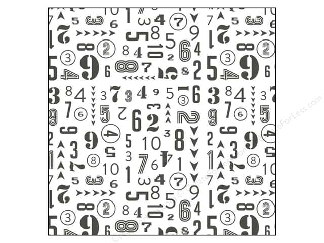 Crate Paper 12 x 12 in. Paper Boys Rule Vellum Numbers (25 pieces)