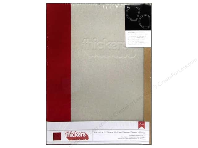 American Crafts Thickers Storage Album 6 x 12 in. Modern Red