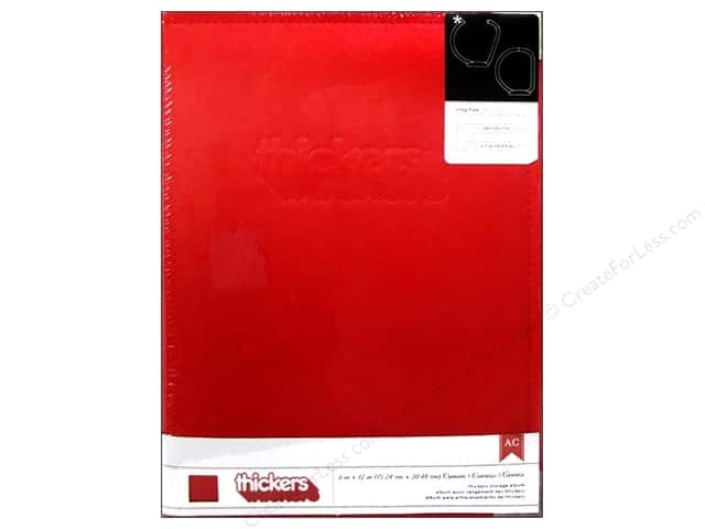 American Crafts Thickers Storage Album 6 x 12 in. Faux Leather Red