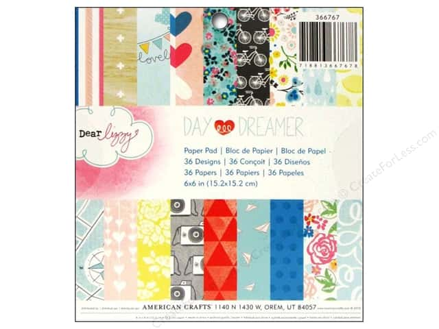 American Crafts 6 x 6 in. Paper Pad Dear Lizzy Daydreamer