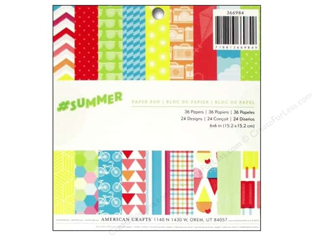 American Crafts 6 x 6 in. Paper Pad #Summer