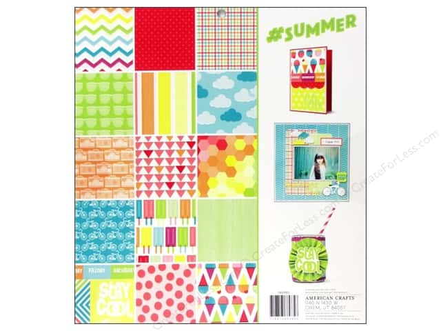 American Crafts 12 x 12 in. Paper Pad #Summer