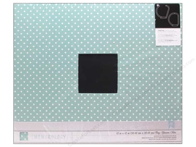Pebbles 3-Ring Album 12 x 12 in. Special Delivery Boy Cloth Blue with White Dots