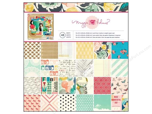 Crate Paper Pad 12 x 12 in. Maggie Holmes Styleboard 48 pc.