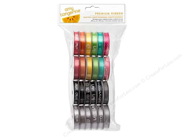 American Crafts Ribbon Value Pack 24 pc. Amy Tangerine Plus One