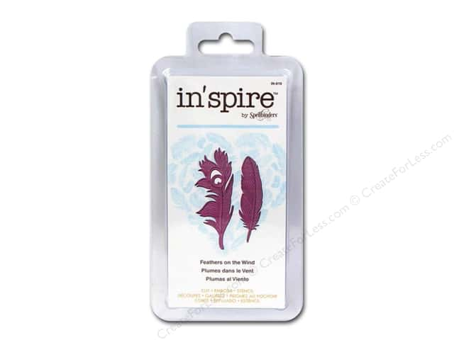 Spellbinders Die Shapeabilities Inspire Feathers On The Wind