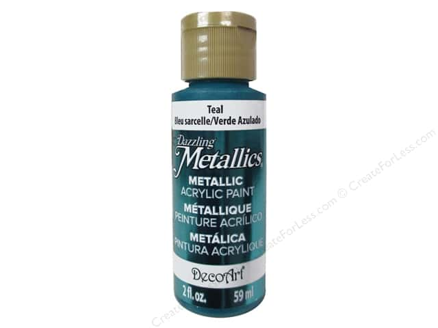 DecoArt Dazzling Metallics Paint 2oz Teal